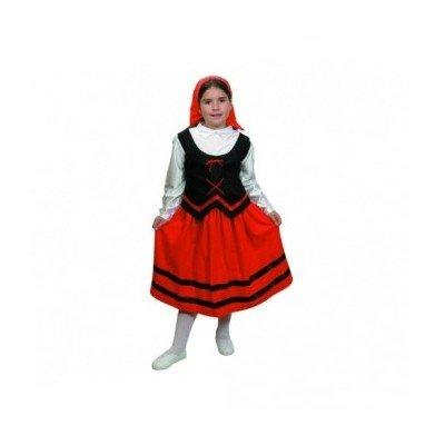 Imagen de disfraz de pastora rojo para niña  talla  7 9 años