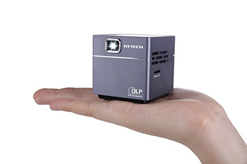 Get RtTech S6 Portable Mini Pico DLP Projector with 30,000 Hour LED Light and 120-inch Display, Wireless, Rechargeable, includes HDMI Cables, Tripod and UK Charger Reviews
