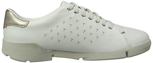 Clarks Tri Abby, Sneakers Femme Blanc (White)