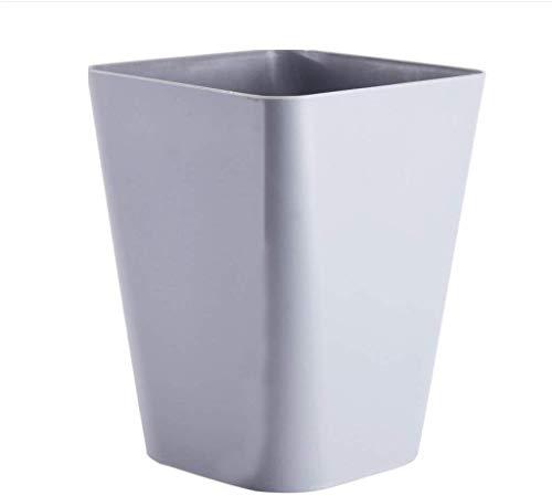 Cubo de Basura Cuadrado Color Liso 12L Grande Sin Tapa Bote de Basura , Papelera de baño Papelera...