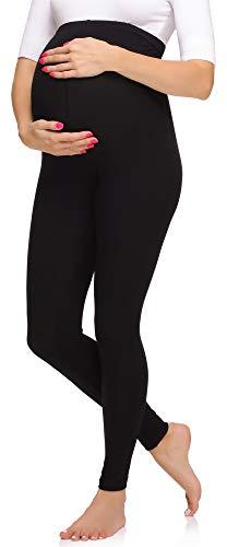 Merry Style Leggins Premamá Pantalones Largos Mujer MS10-297 (Negro, L)
