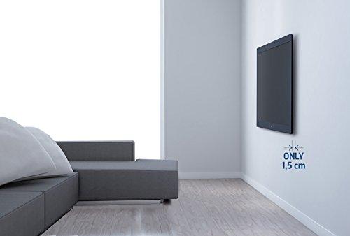 confronta il prezzo Meliconi SlimStyle 400 S, Supporto Fisso Ultra Sottile da Parete per Tv a Schermo Piatto da 40'' a 50'', VESA 200x200, 300x300,400x400, Nero miglior prezzo