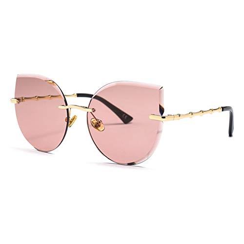 WZYMNTYJ Cat Eye Sonnenbrille Damen Deisgner Trimmen Farbverlauf New Trend Ladies Uv400