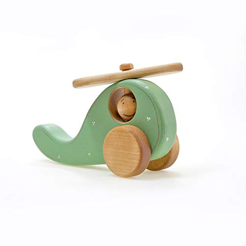 Helikopter aus Holz, Personalisierte KleinkindSpielzeug