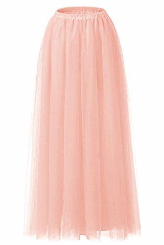 FOLOBE A-line bodenlangen T¨¹llrock muslimischen (Dress Up Prinzessin Peach)
