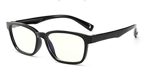 Huateng HT Neue Mode Kinder anti-blau Brille Jungen und Mädchen flach Spiegel Silikon Brille weichen Rahmen Rahmen F008