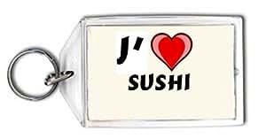 J'aime Sushi Porte Clé (Noms/Prénoms)