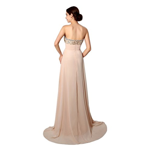 Ikerenwedding - Robe - Taille empire - Femme Small Champagne