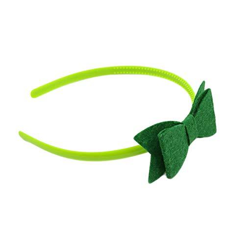 CAheadY Grüne Bowknot Decor Hairband Stirnband Festival Party Prop Zubehör niedlich einzigartige Kopfbedeckungen Dark ()
