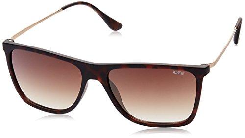 IDEE Mirrored Square Men's Sunglasses - (IDS1934C7SG|56|Brown Gradient lens) image