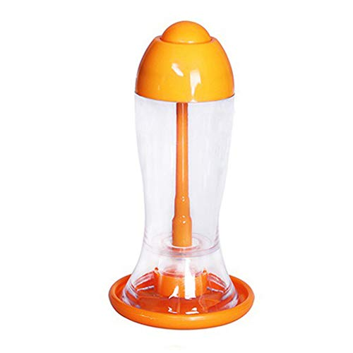 Ouken Gewürzflasche Presse Spray Typ Essig Sojasauce Pot Gewürzbehälter Ölflaschen (Orange) 1 Stück