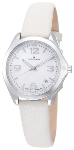 Junghans - MUNCHEN 047/4033.00 - Montre Femme - Quartz - Analogique - Bracelet cuir gris
