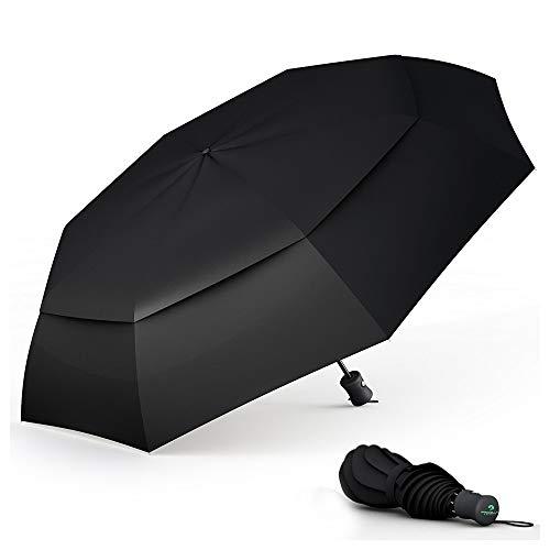 Paraguas Plegable Automático De Viaje Procella – 100% Impermeable Antiviento Compacto Apertura Y Cierre Automático Ligero Resistente Protege De Lluvia Viento – Ideal para Viajar Color Negro
