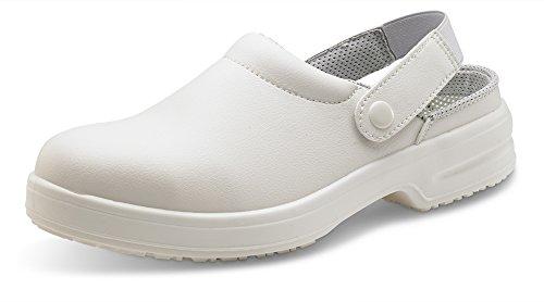 ClickFootwear Unisexe Micro Fibre Chaussons avec ceinture blanc