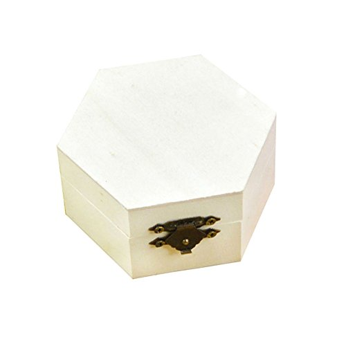 Gespout scatole portaoggetti in legno esagono creative di pieghevole alta capacità bagagliaio al tesoro per orecchini gioielli cosmetici