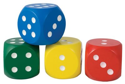 Giant Wooden Dice (assorted colours) by The Online Stores