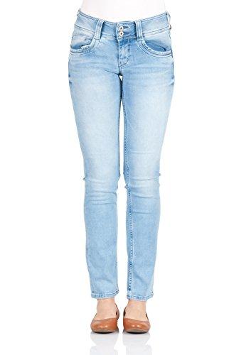 Pepe Jeans Damen Jeans Gen - Regular Fit - Blau - Light Denim, Größe:W 26 L  30, Farbe:Light Denim (0000)