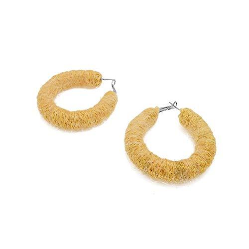 Bright Eye Yellow Ear Ring Female Personality Temperament Earrings Earrings Simple Earrings Round Circle Circle Earrings Female
