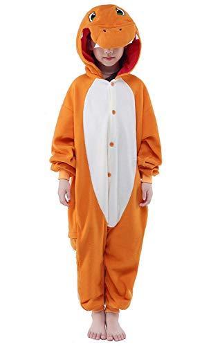 Kostüm Cosplay Charmander - Finewlo Halloween Unisex Tier Pyjama Kind Cosplay Kostüm, Charmander, 85