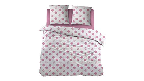 Snoozing Lynn - Flanell - Bettwäsche - 270x200/220 cm + 2 kissenbezüge 65x65 cm - Pink -