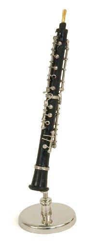 Kleine Oboe Miniatur - im Bakelit - Dekorationsgegenstand - Geschenk Musik - In seinem Kästchen mit Träger geliefert - Höhe 16 cm