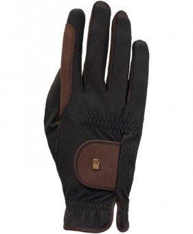Roeckl Sports Winter Handschuh Malta, Unisex Reithandschuh, Schwarz/Mokka, 8,5