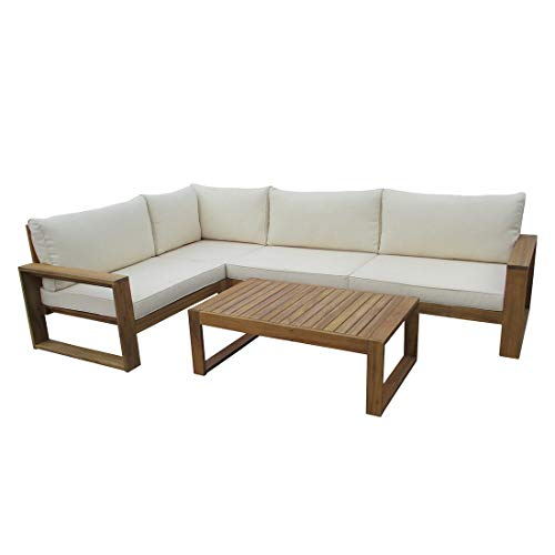 OUTLIV. Loungemöbel Holz Santa Cruz Loungemöbel Outdoor 5-teilig Akazie Teaklook Gartenlounge Loungegruppe