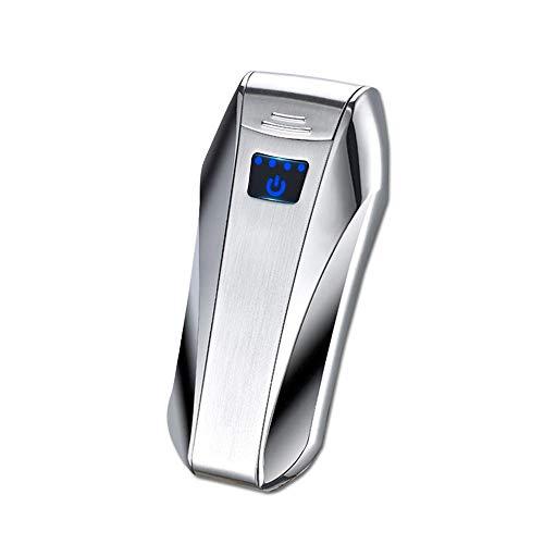OOOUSE Accendino Elettrico Ricaricabile, Dual Arc Accendino Touch sensore Accendino USB Ricaricabile Antivento Elettrico Plasma x Beam Arc Accendino (sensore di Impronte digitali)