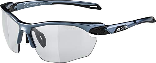 ALPINA Twist Five HR VL Outdoorsport-Brille, Tin-Black, One Size