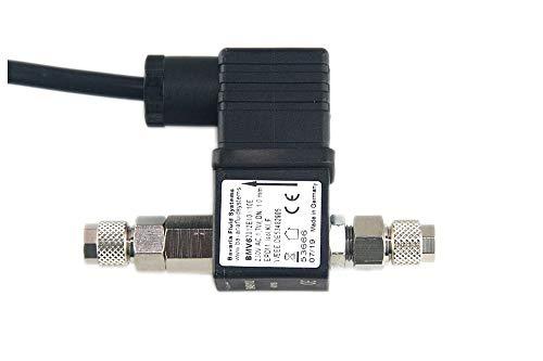 Bavaria Fluid Systems CO2 Magnetventil mit Rückschlagventil Made in Germany, Brummfrei, extra langes Kabel -