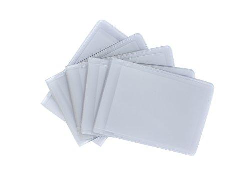 Paquete de 5 repuesto de encartes plásticos para fundas de tarjetas de crédito. Cada encarte plástico tiene 12 espacios para tarjetas de crédito. Paisaje - 10 cm x 7 cm x 0,25 cm