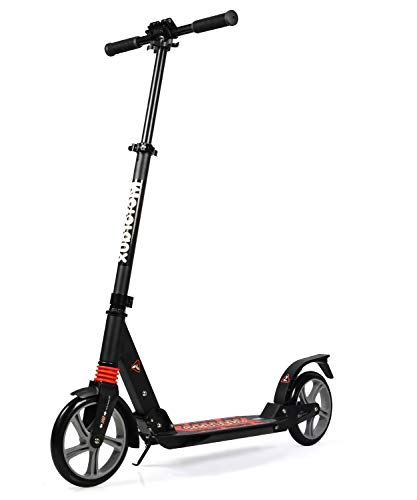 MOTORAUX 200MM Wheel Scooter, Klappbarer City-Roller Höhenverstellbar für Erwachsene und Kinder...