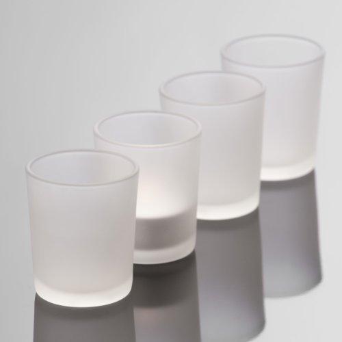 Bicchierino In Vetro Satinato Frosted Alto 6.5 Cm Diametro 5.5 Cm