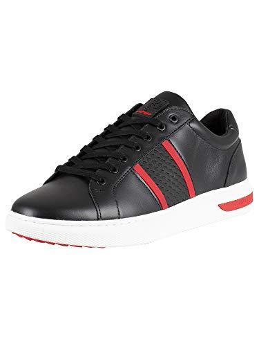 Ed Hardy Herren Niedrige Sneakers, Schwarz, 45 EU -