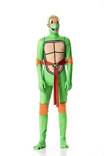 Ninja Turtle Kostüm Orange - ZSDFGH Ninja Turtles Kostüm/Teenage Mutant Ninja Turtles/Fasching Kostüm Kinder/Ninja Turtles Kostim Frau,Orange-L