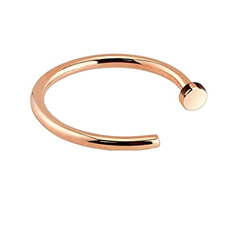 PiercedOff Rose Gold IP Over 316L Surgical Steel Nose Hoop