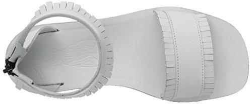 FLY London Mexu914, Sandales Plateforme  Femme Blanc Cassé (Off White 002)