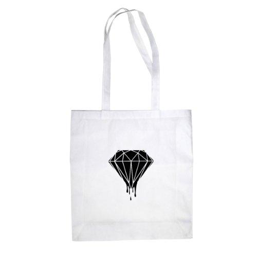 Dripping Diamond - Stofftasche / Beutel Weiß