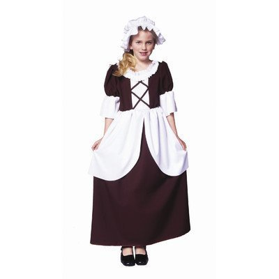 RG Costumes Colonial Girl Costume, Brown/White, Small by RG ()