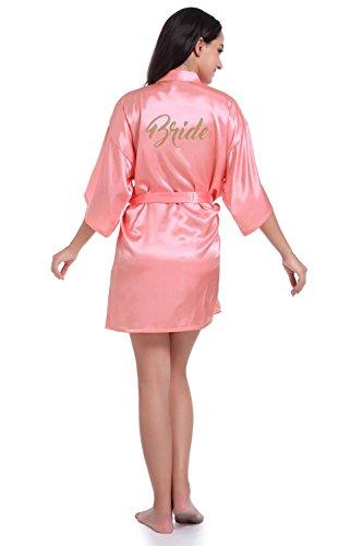 NEIYI Brautjungfer Kleid Brautkleid Kleid Dünne Seide Strickjacke CUIYAN (Farbe : Rosa, Größe : L) - Rosa Seide Strickjacke