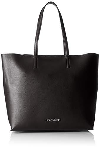 Calvin Klein - Tack Shopper, Bolsos totes Mujer, Negro (Black), 12x35x33 cm (B x H T)