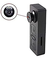 Sekuai S918 HD Audio and Video CCTV Cam Covert Spy Miniature Button Hidden Camera with SD Card Slot - Up to 32GB