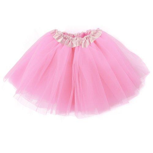 Mangotree Mädchen Tütü Minirock Organza Pettiskirt 3 Layers Petticoat Tanzkleid Unterrock Perfekt für Fasching (Layer-petticoat Rock)