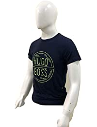 d29d0515de3a Hugo Boss BOSS Athleisure Tradition and Technology Green Round Text Logo T- Shirt