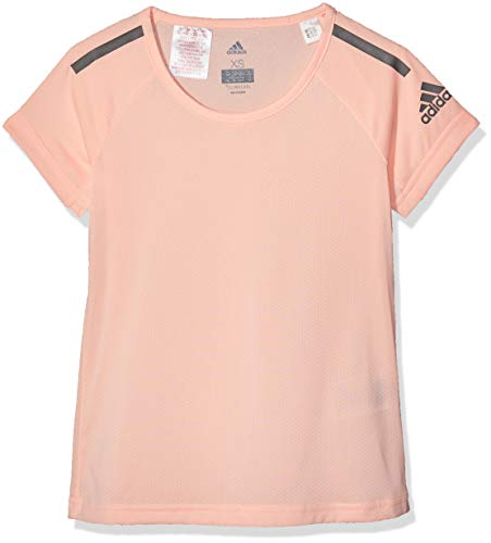 adidas Mädchen Training Cool-DJ1076 Kurzarm T-Shirt Clear Orange/Black, 116