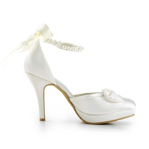 Jia Jia Wedding 3704A Scarpe Sposa Scarpe col tacco donna Beige