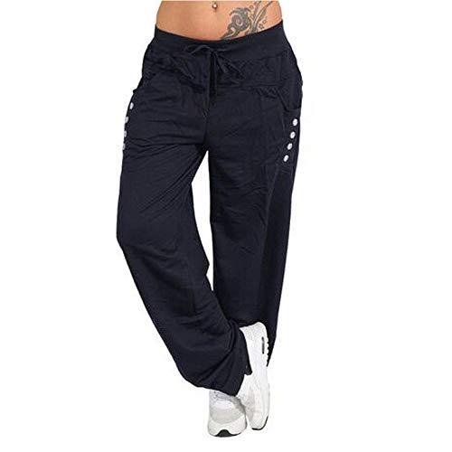 JMETRIC Damen Freizeithose|Lose Hosen |lose beiläufige Lange Hosen|Yoga Sport |lockere gerade Hose | weites Bein -