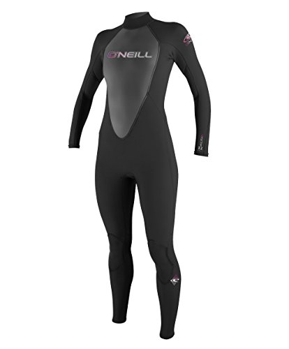 O'Neill Wetsuits Damen Neoprenanzug Reactor 3/2 mm Full Wetsuit, Black, 14, 3800-A05 Image