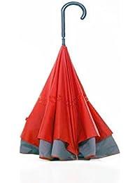 Paraguas Invertido Automatico, anunciado en TV - Color Granate - Siempre esta seco, se pliega de forma automatica. Fabricado en Fibra de Vidrio