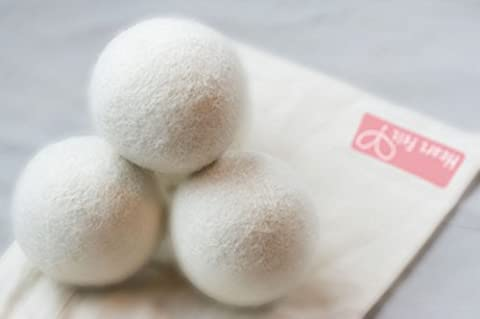 Four Extra-Large Premium Quality Wool Dryer Balls by Heart Felt